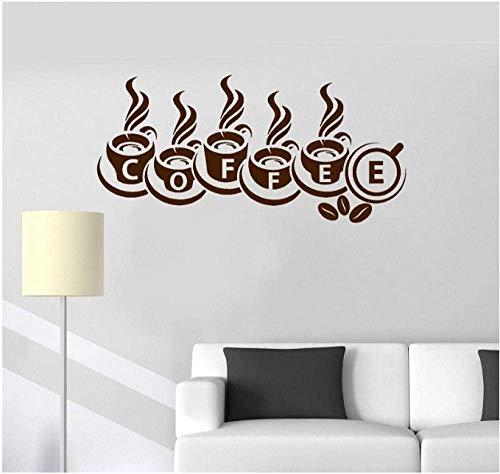 Kaffeehaus Shop Becher Pvc Vinyl Kunst Aufkleber Lustige Geburtstagsgeschenk Kunst Aufkleber Wohnkultur Schlafzimmer Wohnzimmer Wand Stickers119X57Cm