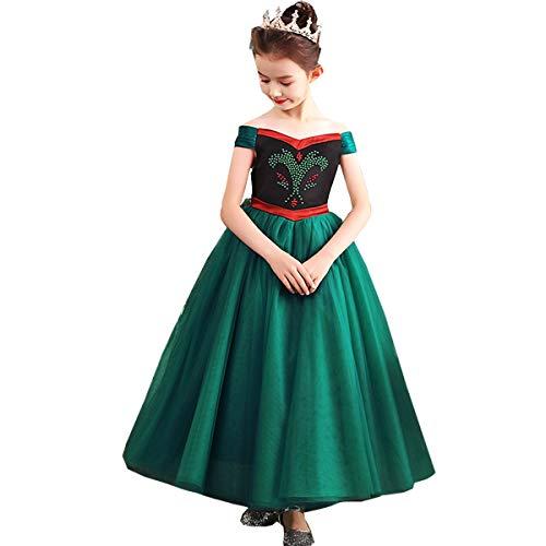 TYHTYM Anna Elsa Princess Costume Little Girls Dress Up Frozen Snow Queen Halloween Party