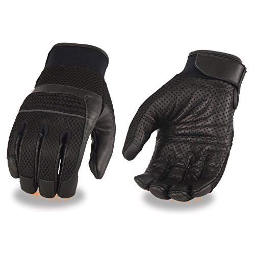 Milwaukee piel hombres piel de malla guantes con palma de Gel y tiras reflectantes