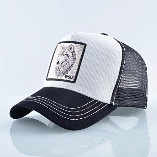 JlLianT Baseball Caps Mode Tier Stickerei Baseballmütze Männer Und Frauen Hip Hop Hut Sommer Atmungsaktive Mesh Sonne Unisex Straßenkleidung Knochen