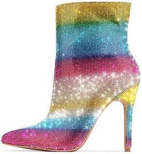 Cape Robbin Color Trap Ankle Stiletto High Heels Women's Boot