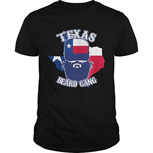 vo260620a801 PA camisa Negro Playera con mapa de la bandera de Texas Beard S