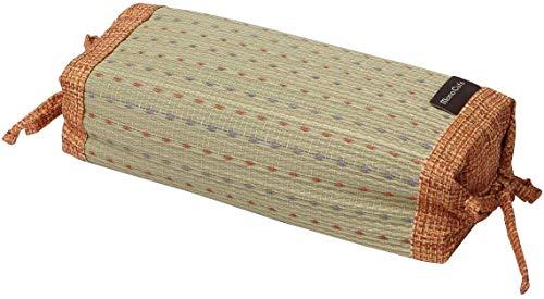 Ikehiko - Almohada tradicional japonesa en hierba Igusa natural, altura regulable, 30 x 15 cm, color naranja 7559459