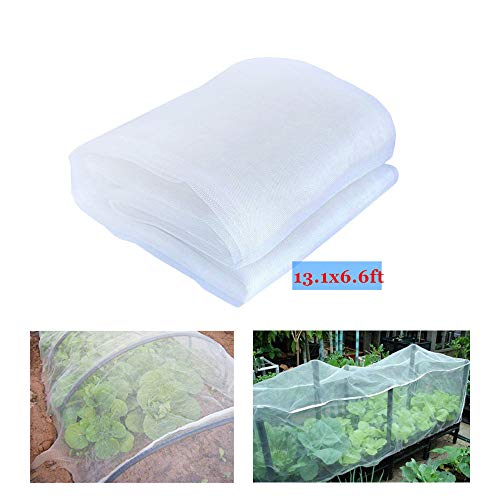 YBB Bug Insect Garden Barrier Netting Plant Cover, Thicken Mosquito Bird Screen Hunting Blind Garden Mesh Net for Protect Plant Fruits Flower (13.12'x6.56')