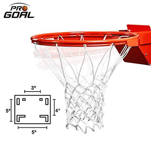 PROGOAL Breakaway Basketball Rim, Heavy Duty Pro Slam Flex Rim Replacement 5/8-In, Standard Goal Reinforced Mounting Bracket Fit Most Size Backboards Indoor and Outdoor (1-Spring Basketball Rim)