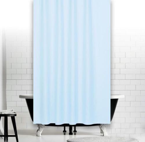 KS Handel 24 Textil Duschvorhang 240x200 cm/Hellblau Uni