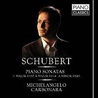 Schubert: Piano Sonatas by Michelangelo Carbonara (2012-05-08)