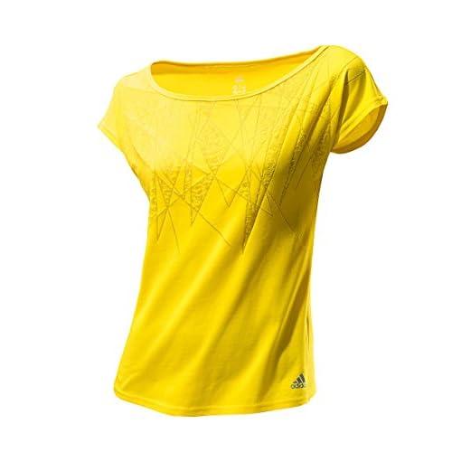 adidas, Donna Maglietta a maniche corte Dance Image Tee, Giallo (vivid yellow s13), S