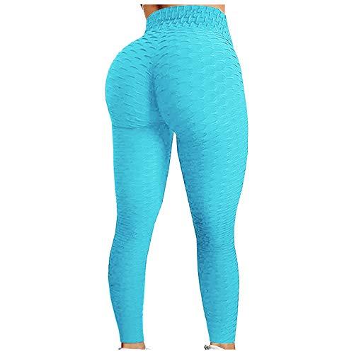 Yogahose Frauen Bedruckte dünne Hüften mit hoher Taille Bequeme Sport-Yoga Hose Damen Jacquard Bubble Hips Sport Fitness Laufen High Taille Yoga Hose