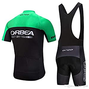 CHHBS Traje Equipacion Ciclismo Hombre Verano con 5D Acolchado De Gel,Traje Ciclismo Hombre Maillot Ciclismo + Pantalon Bicicleta