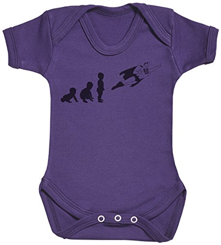 Baby Evolution to A Super Man Body bébé - Gilet bébé - Body bébé Ensemble-Cadeau - Naissance Violet