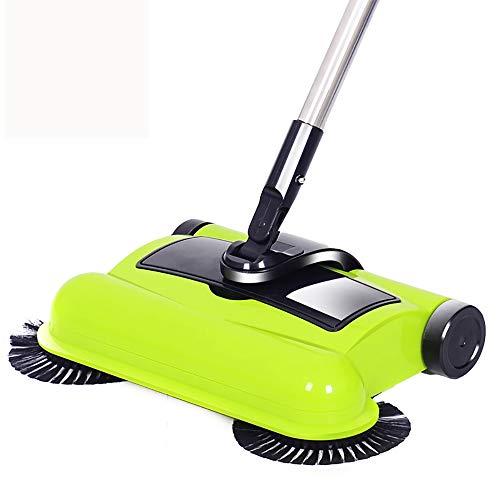 AMY Spin Besen, 360 Besen Kehrmaschine Ohne Strom Und Batterien Mehrere Bodenreinigung/Leichter/Nichtelektrische Für Holz/Kunststoff/Marmor/Bodenfliese,A