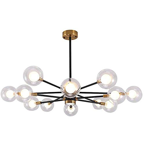 12 Licht G9 Sputnik Kronleuchter Mid Century Pendelleuchte Matt Globen Lampenschirm Decke Modernen Beleuchtung Befestigung Zu Küche Bauernhaus Klares Glas 12 Licht