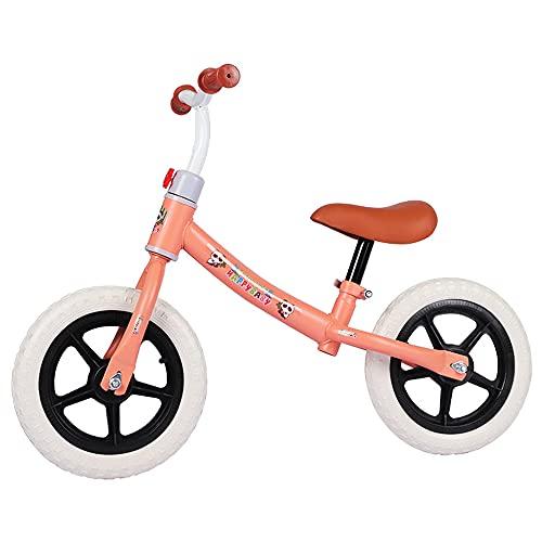 QSYY Bicicleta De Equilibrio De 12 Pulgadas, Adecuada para Bicicletas De Entrenamiento para Niños para Niños Y Niñas De 2 A 6 Años, con Manillares/Asientos Ajustables