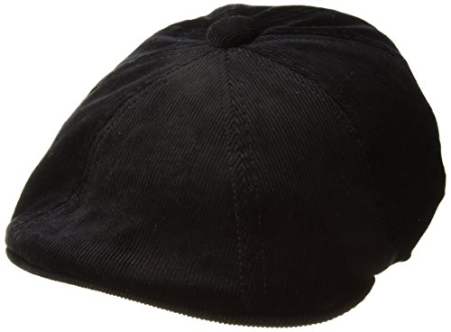 Kangol Cord Hawker Boina, Negro (Black BK001), Medium Unisex Adulto