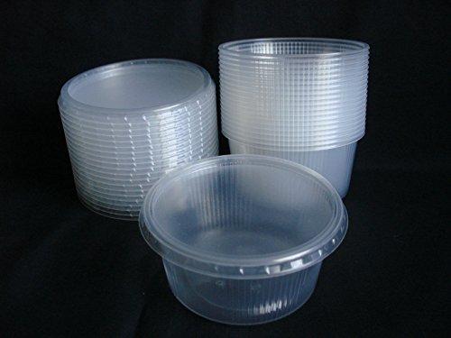 20 piezas 250 ml pequeño redondo desechables de plástico cubo de recipientes con tapa...