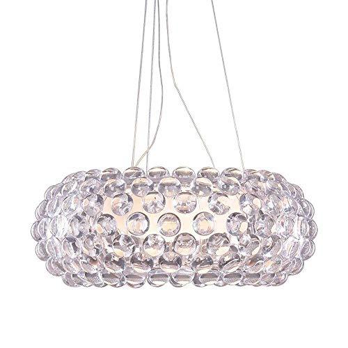 YANGDONG-Luz de cristal de estilo industrial creat Moderno cabunco colgante lámpara nórdica...