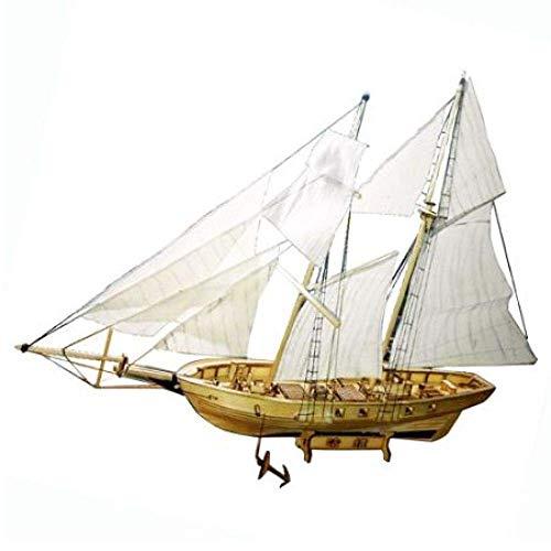 HYCy Modello di Barca a Vela di Navi medievali, Kit Modello di Barca a Vela Classica in Legno Barca a Vela in Scala 1/130 15 Pollici