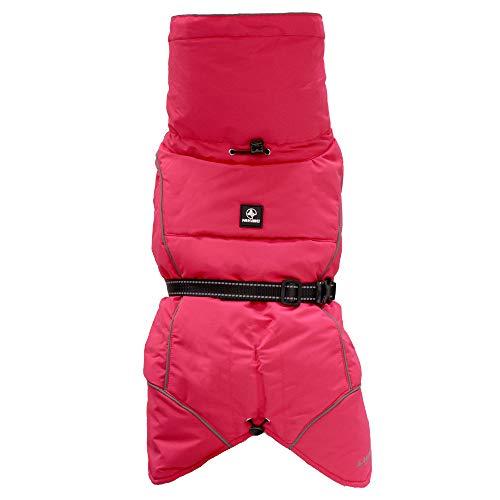 Croci Hiking Hundemantel, wasserdicht, für Hunde, gefüttert, Wintermantel, Thermofutter, K2, Farbe Fuchsia, Größe 30 cm - 182 g