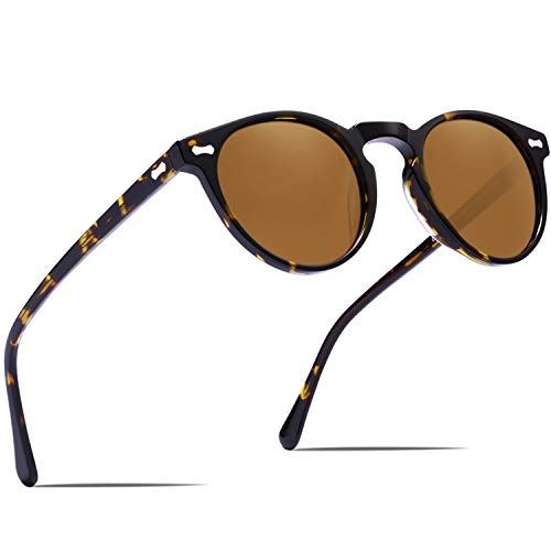 Carfia Retro Polarisierte Damen Sonnenbrille Outdoor UV 400 Brille für Fahren Angeln Reisen, Acetat-Rahmen
