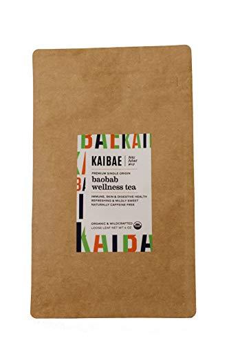 KAIBAE Organic Baobab Wellness Tea | Boosts Immunity and Benefits Digestive Health | Loose Leaf (4 oz.)