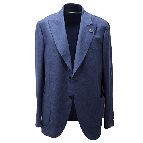 Lardini 1177AD Giacca Uomo Wool Blue Jacket Men [54]