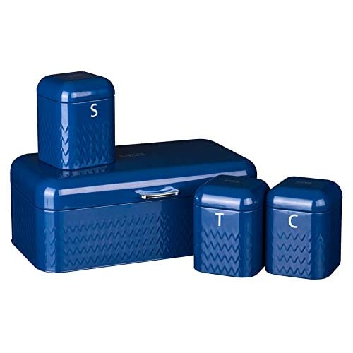 Livivo Taurus 4pc Kitchen Storage Set - Navy Blue