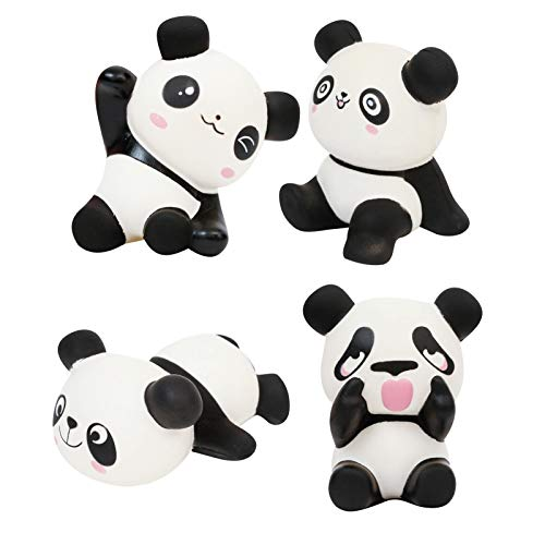Anboor 4 Pcs Panda Set Squishies Soft Slow Rising Scented Squishies Kawaii Animals Stress Relief Kids Toys Decoration