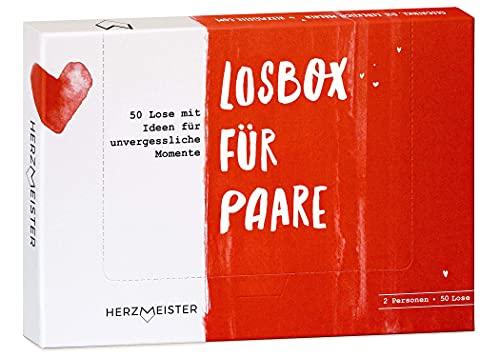 Losbox für Paare I Das Paar-Geschenk für 50 unvergessliche Momente I 50 Lose mit Ideen für Spiel, Spaß & viel Liebe I Zum Geburtstag, Jahrestag & zur Hochzeit für Mann, Frau,...