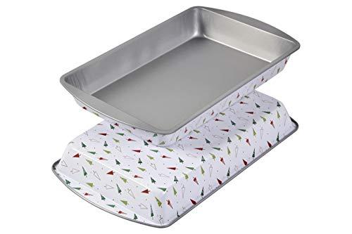 Wilton Christmas Printed Non Stick Baking Pan Tin Set - 2 pack