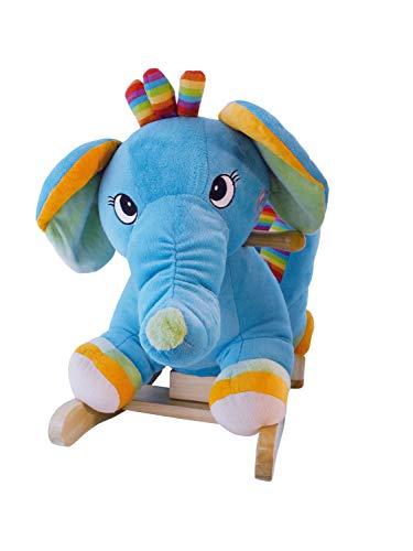 BIECO 74004006 Dondolo Elefante Animale, Circa 60 x 31 x 53 cm, Multicolore