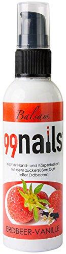 99 Nails main & corps Baume Fraise de vanille, 1er Pack (1 x 100 ml)