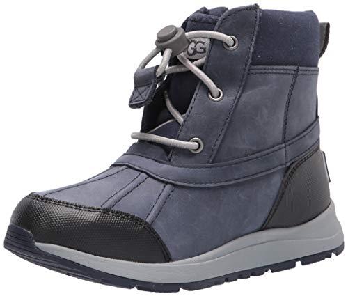 UGG Jungen Turlock Leather Weather Stiefel, SCHWARZER SAPHIR, 48.5 EU,32.5(UK)
