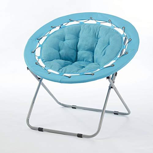 Urban Shop Micromink Web Saucer Chair, Aqua