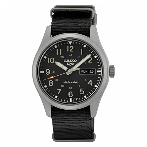 Seiko Herren Analog Automatik Uhr mit Nylon Armband SRPG37K1