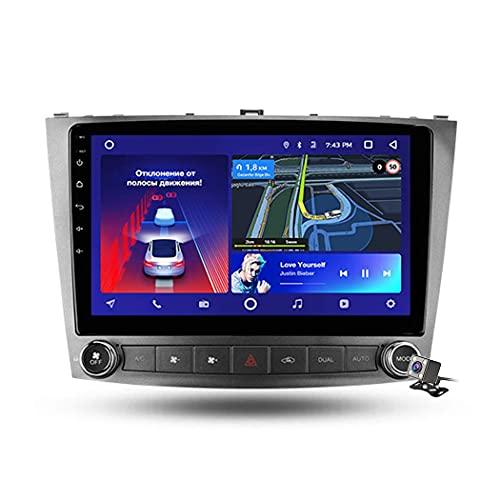 FDGBCF Android 9.1 Radio de Coche para Lexus IS250 XE20 2005-2013 Navegación GPS estéreo para Coche Pantalla táctil de 9 Pulgadas Soporte de Pantalla Espejo WiFi BT Control del Volante/FM RDS DSP