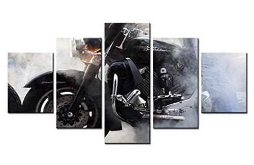 YUXIXI Cartel De Motocicleta A Campo Traviesa Cuadros Modernos -5 Cada Una...