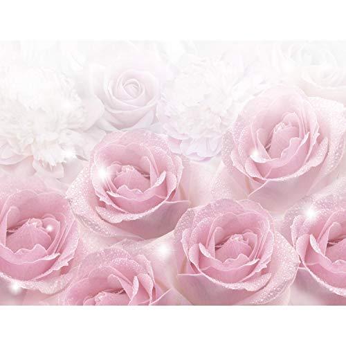 Fototapeten Blumen Rosen 352 x 250 cm - Vlies Wand Tapete Wohnzimmer Schlafzimmer Büro Flur Dekoration Wandbilder XXL Moderne Wanddeko - 100% MADE IN GERMANY - 9412011a