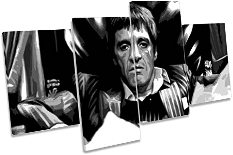 Scarface Tony Montana Multi Leinwand Wand Art Box Rahmen Druck Bild, 240cm wide x 135cm high