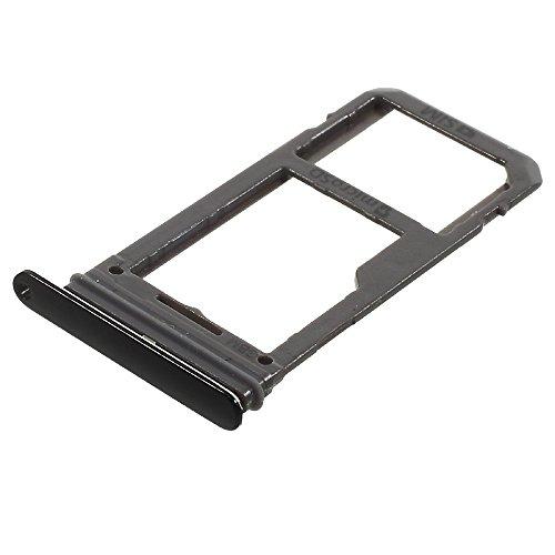 jbTec SD-Card/SIM-Tray/Halter passend für Samsung Galaxy S8/Plus - Slot Karte Schlitten Rahmen Holder Handy Card Ersatz, Farbe:Schwarz