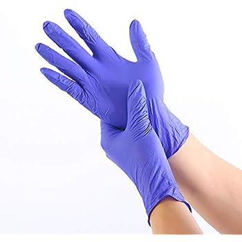 Colore: Blu, Misura: M NMDD 100 PZ//Resistenza allusura Guanti monouso in Nitrile Test Medici per alimenti Pulizia Della CASA Guanti da lavaggio Guanti antistatici Guanti da Lavoro