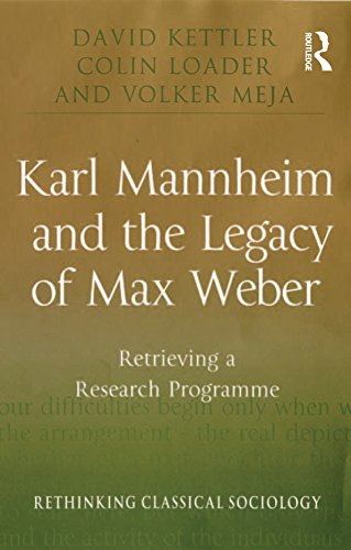 Karl Mannheim and the Legacy of Max Weber: Retrieving a Research Programme (Rethinking Classical Sociology) (English Edition)