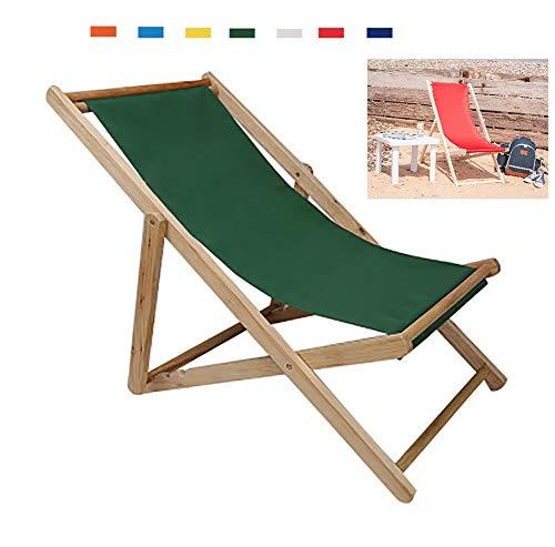 CatLXC - Sillón plegable de madera para la playa, al aire libre, ajustable, para el jardín o el balcón