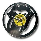 Disc'O'Clock Orologio in Vinile da Parete Lp 33 Giri Silenzioso Tribute - Idea Regalo Rolling Stones, Musica, Rock