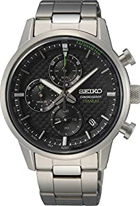 Seiko - Reloj analógico de Cuarzo para Hombre con Correa de Metal
