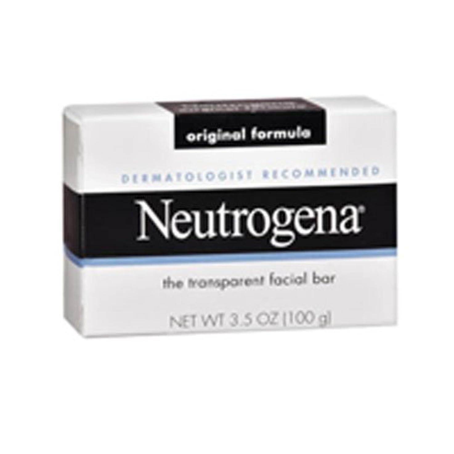 差し控える飼料抵抗力がある海外直送肘 Neutrogena Transparent Facial Soap Bar, 3.5 oz