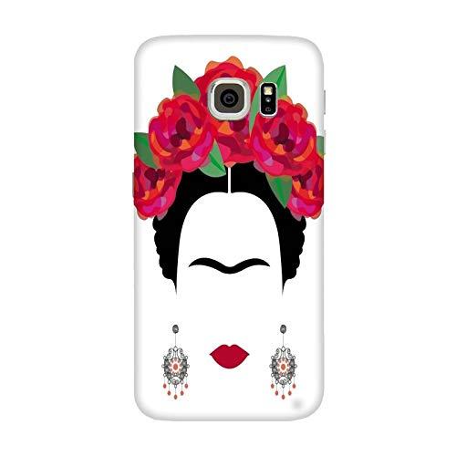 Generico Cover Samsung Galaxy S7 Edge Frida Kahlo con Sfondo Bianco/Custodia Stampa Anche sui Lati/Case Anticaduta Antiscivolo AntiGraffio Antiurto Protettiva Rigida