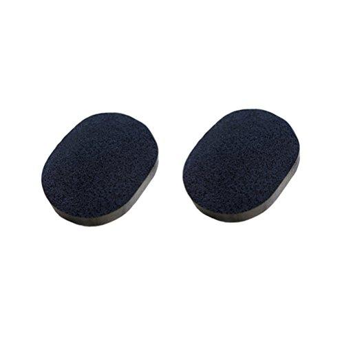 Frcolor Éponge faciale noire de nettoyage de 2pcs avec le charbon de bambou activé pour la peau nettoyant exfoliant
