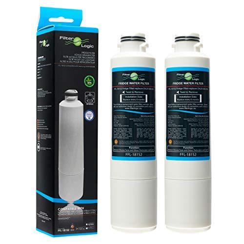 2x FilterLogic FFL-181S2 Filtri acqua frigo compatibile con Samsung DA29-00020B, HAF-CIN/EXP, HAF-CIN, DA97-08006A-B, DA97-08006A-E, DA97-08043ABC cartucce per frigoriferi