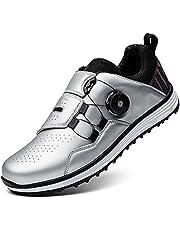 Golfschoen voor heren- Spikeless waterdichte golf shoe men, microvezel-comfortgolftrainerschoenen voor heren, antislip golfsporttrainers Gym sportschoenen-golfsport